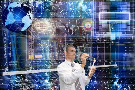 Foto de Las nuevas tecnologías de internet en el campo de la investigación espacial - Imagen libre de derechos