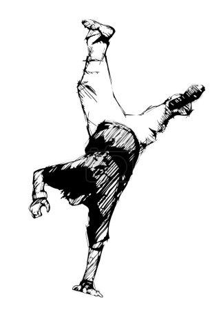 Break dancer sketching 3
