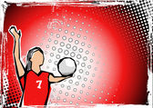 Red volleyball background 2