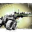 Dirty poster background of the tractor...