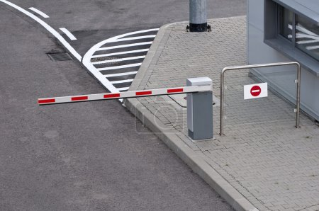 Car parking entrance toll.