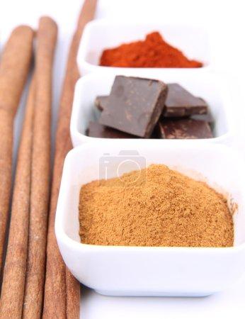 Cinnamon, chocolate and chili
