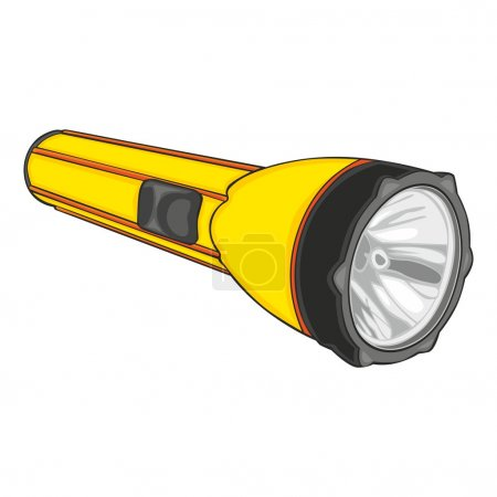 Illustration for Fully editable vector illustration of isolated flashlight - Royalty Free Image