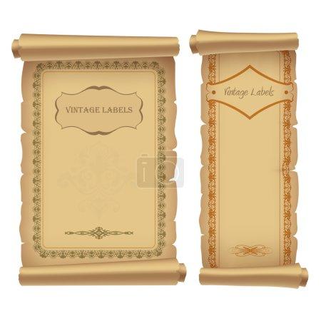 Illustration pour Étiquettes vintage, illustration vectorielle - image libre de droit