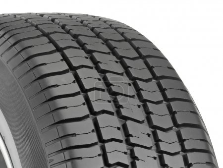 Photo for Illustration of Car Tire isolated on white background with clipping path. Tyre Cap for background - Royalty Free Image