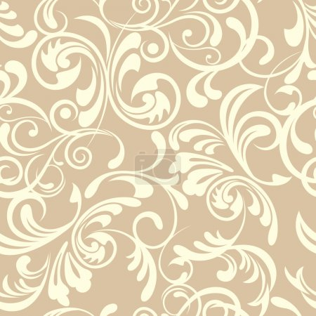 Illustration for Abstract seamless floral pattern - Royalty Free Image