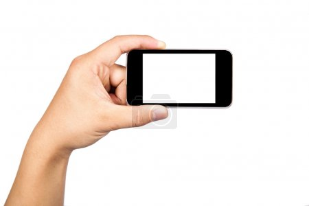 Holding a support for camera and touch smart phone