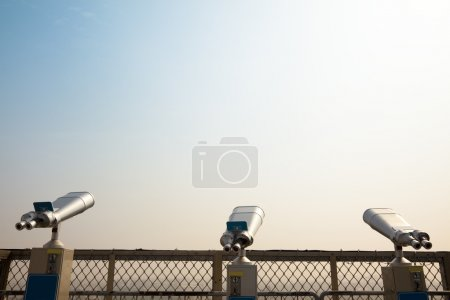 Photo for Three Telescope on the roof and looking to the sky - Royalty Free Image