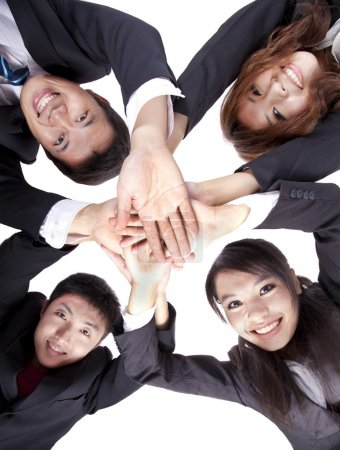 Photo for Asian Young Business joining their hands - Royalty Free Image