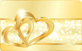 Wedding heart rings vector illustration