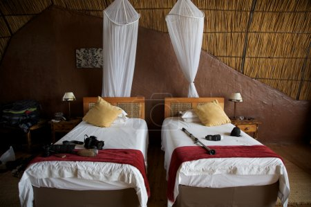 Guest room in a Lodge in Botswana