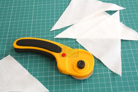 Rotary cutter with fabric