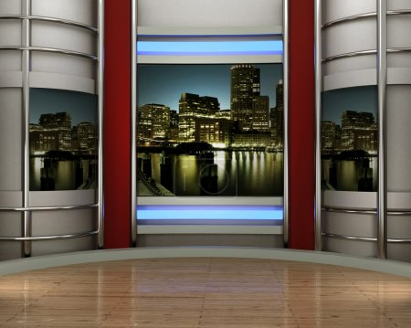 Photo for Studio tv for tv channel - Royalty Free Image