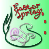 Illustration for the Easter holiday with symbol eggs