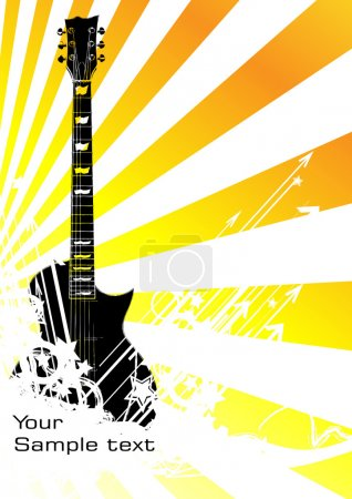 Illustration for Vector music background. Clip-art - Royalty Free Image