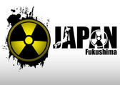 Abstract composition - concept Radiation in Japan