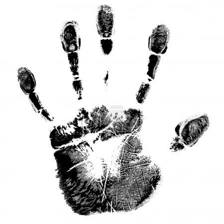 Illustration pour Une réimpression des mains - image libre de droit
