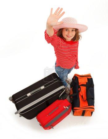Little traveller girl