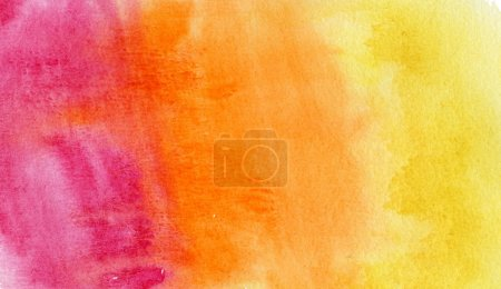 Photo for Abstract purple and orange watercolor background - Royalty Free Image