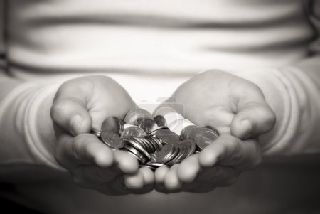 Photo for A person who gives money - Royalty Free Image
