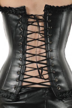 Leather corset with lacing | Isolated