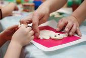 Making dough toy