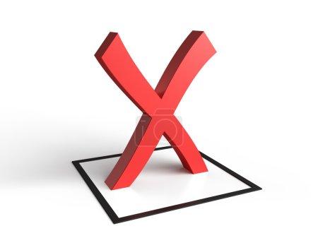 Photo pour Check liste symbole sur fond blanc. image 3D - image libre de droit