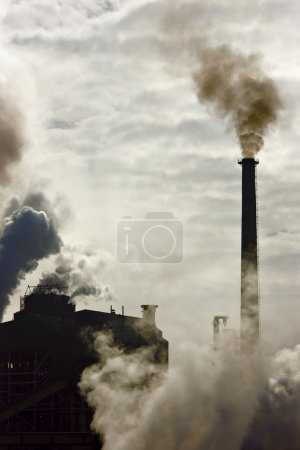 Photo for Pollution effect from industrial factory - Royalty Free Image
