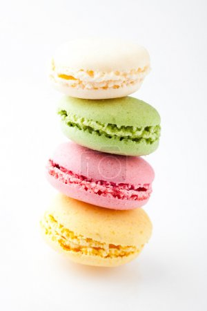 Photo for Macaroons. Delicate and delicious macaroons in pastel colors. - Royalty Free Image