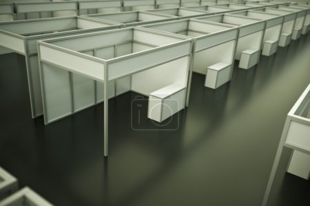 Photo for Inside the trade show pavilion. 3D render. - Royalty Free Image