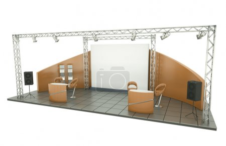 Photo for Trade exhibition stand. 3D rendered illustration - Royalty Free Image