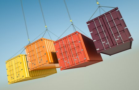 Four shipping containers