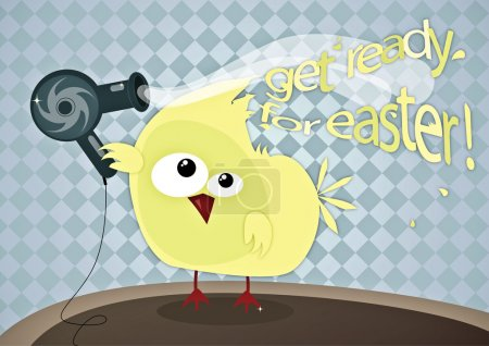 Photo for Funny Easter illustration - Royalty Free Image
