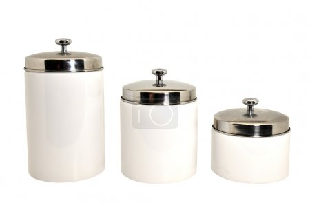 Set of Kitchen Canisters Isolated