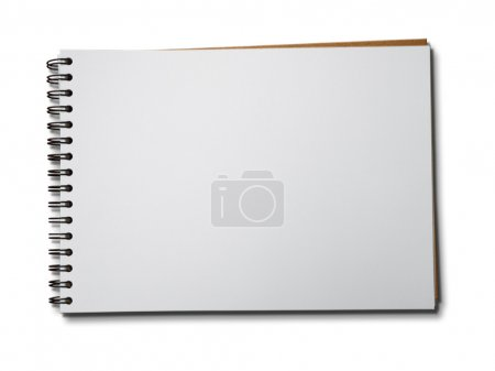 White paper notebook horizontal