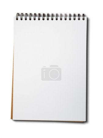Blank one face white paper notebook vertical...