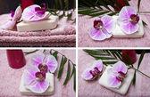 Ručník, mýdlo a květiny
