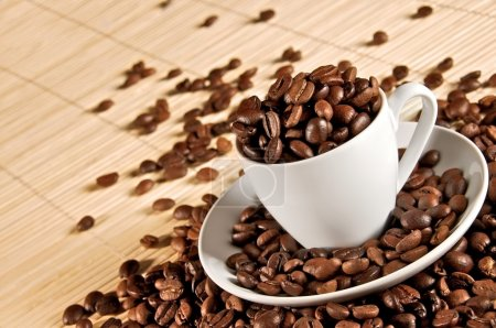 Cup of coffee beans 2