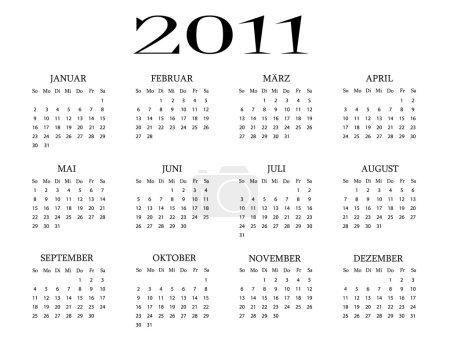 German calendar 2011