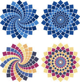 Vector mosaic flower