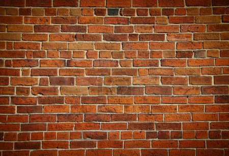 Photo for Weathered stained old brick wall background - Royalty Free Image