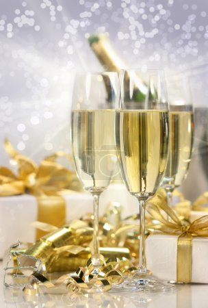 Champagne celebration for the new year