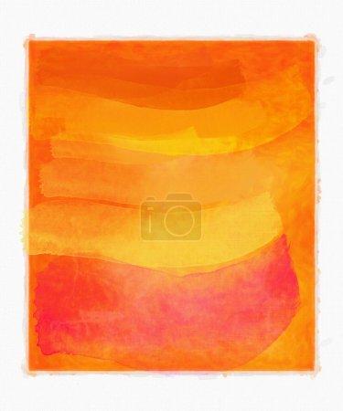 Photo pour Abstrait aquarelle orange - image libre de droit