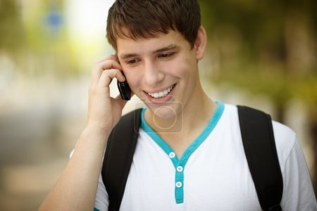 Teen on the phone