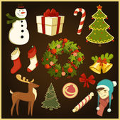 Vector set: Christmas and New Year's items
