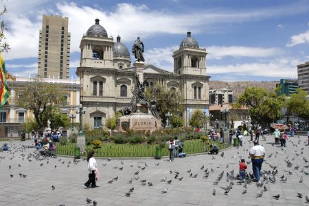 Photo pour Cathédrale, Plaza Murillo, La Paz, Bolivie - image libre de droit