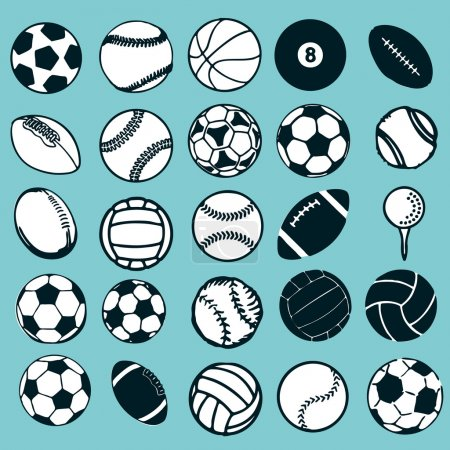 Set Ball sports vector illustration