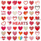 53 icons set HEARTS vector illustration Valentine's day