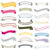 Set of design elements ribbons banners vector