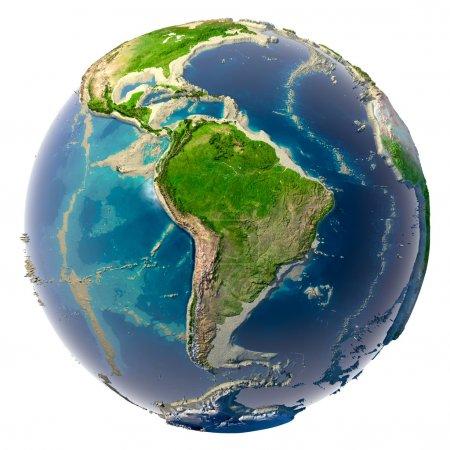 Photo pour Catastrophe écologique de la terre - réduction des Océans et des mers - image libre de droit